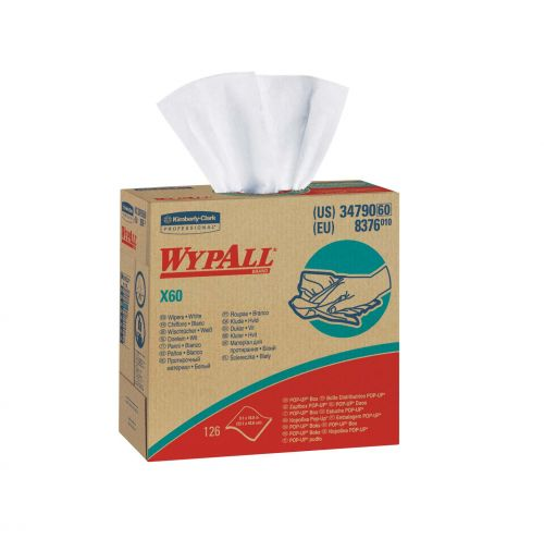Wypall X60 utility wipers white