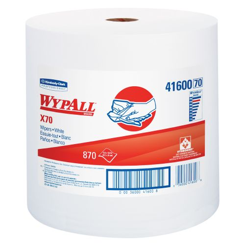 Wypall X70 utility wipers white